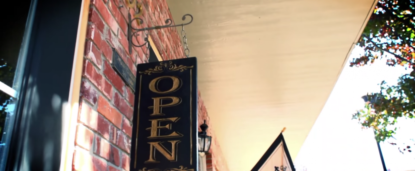 Open Sign in Downtown Neodesha