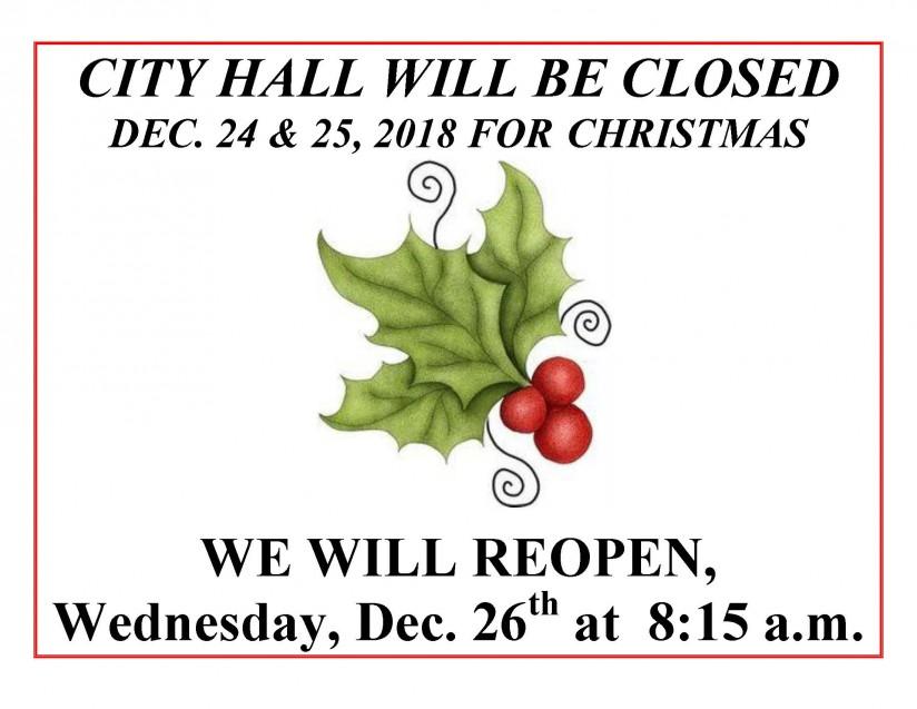 Holiday Closing